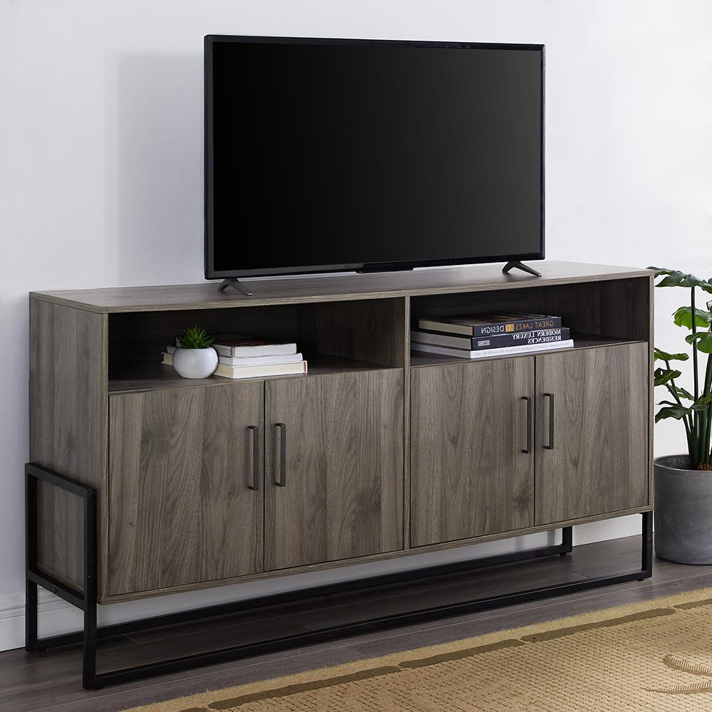 """Manor Park 4 Door Sideboard Tv Stand For Tvs Up To 65 Intended For Grenier Tv Stands For Tvs Up To 65"""" (View 2 of 20)"""