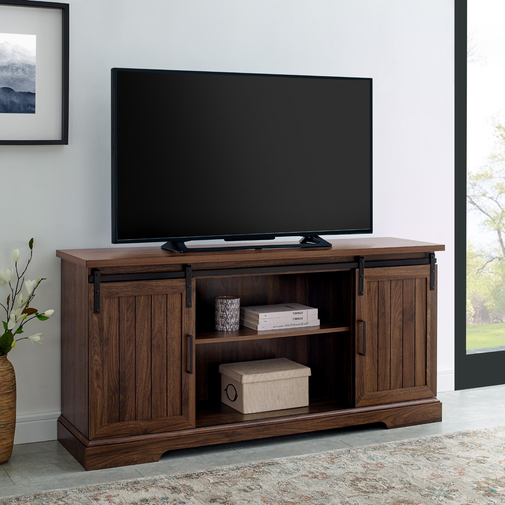 Manor Park Grooved Sliding Door Tv Stand For Tvs Up To 65 With Regard To Grooved Door Corner Tv Stands (View 2 of 20)