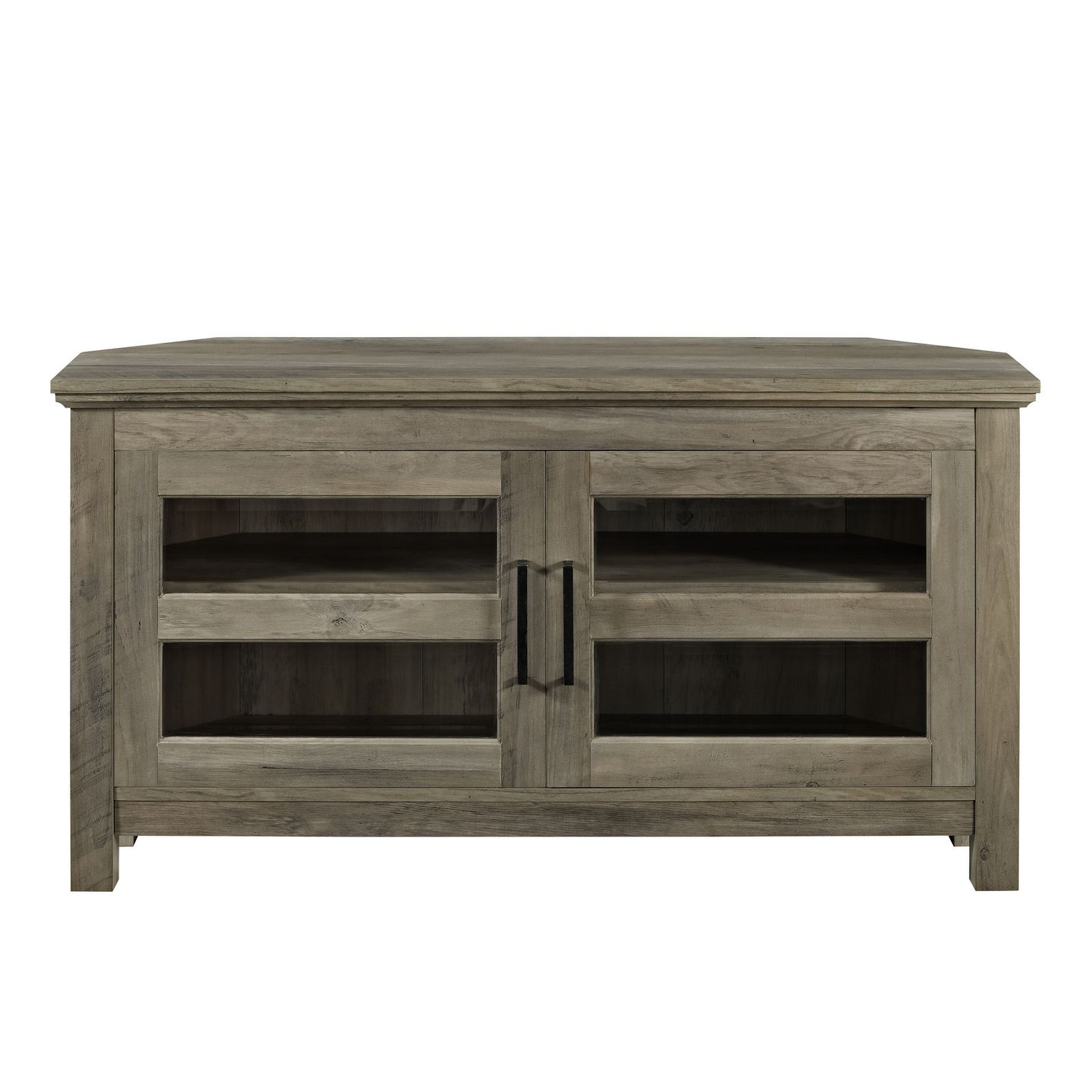 Manor Park Modern Farmhouse Corner Tv Stand For Tv's Up To For Avalene Rustic Farmhouse Corner Tv Stands (View 12 of 20)