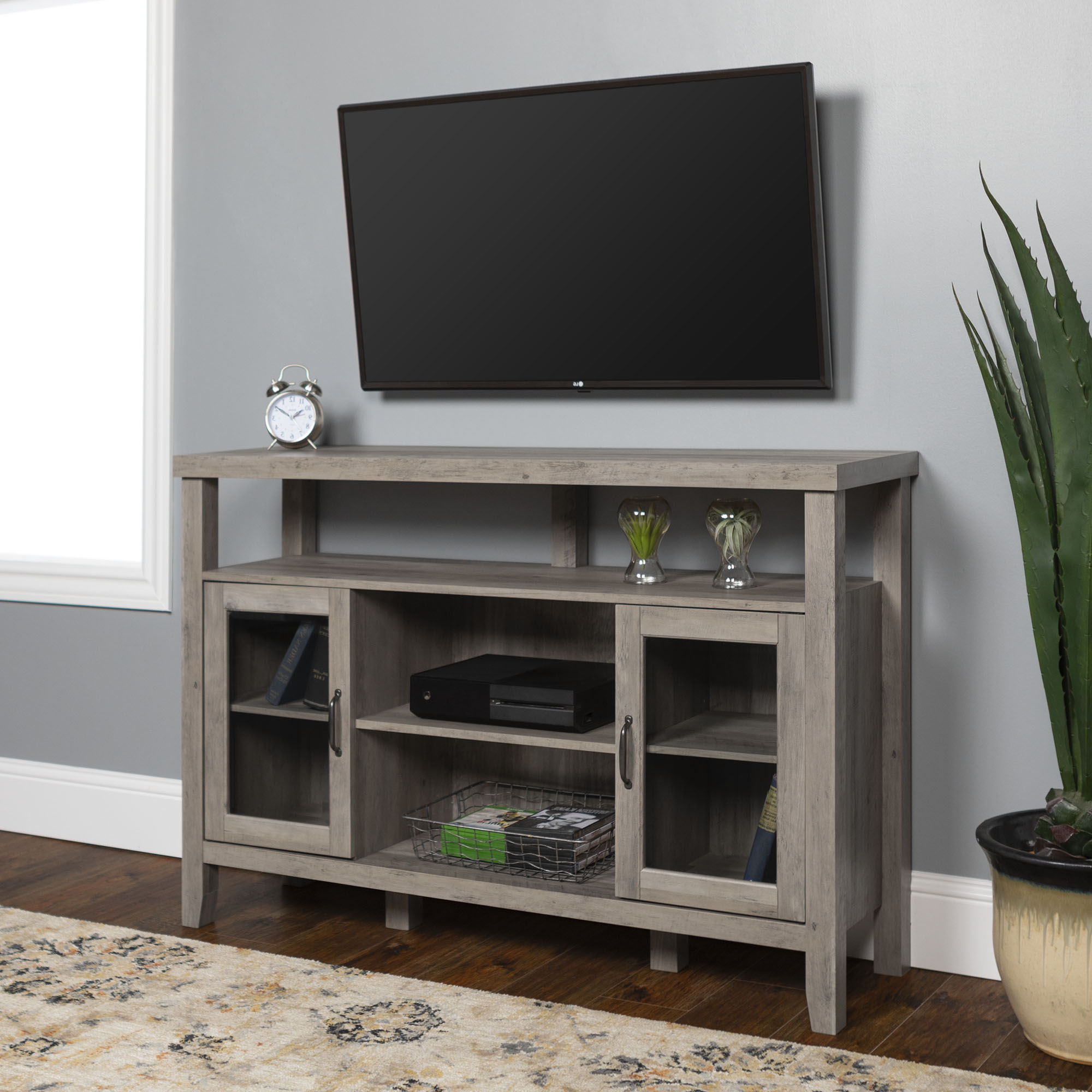 """Manor Park Modern Farmhouse Tall Tv Stand For Tvs Up To 55 Within Lansing Tv Stands For Tvs Up To 55"""" (View 1 of 20)"""