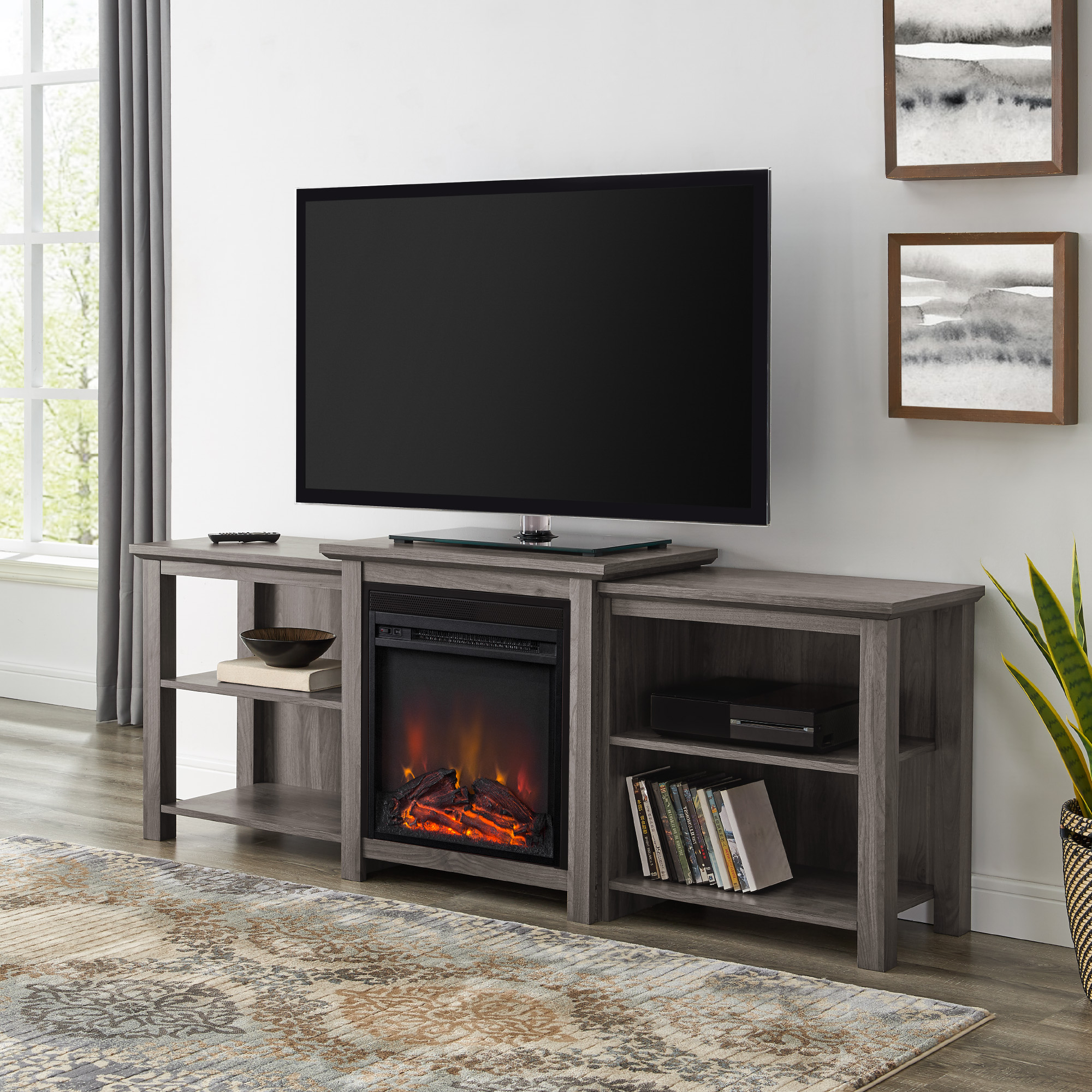 """Manor Park Tiered Fireplace Tv Stand For Tvs Up To 78 For Tenley Tv Stands For Tvs Up To 78"""" (View 2 of 20)"""