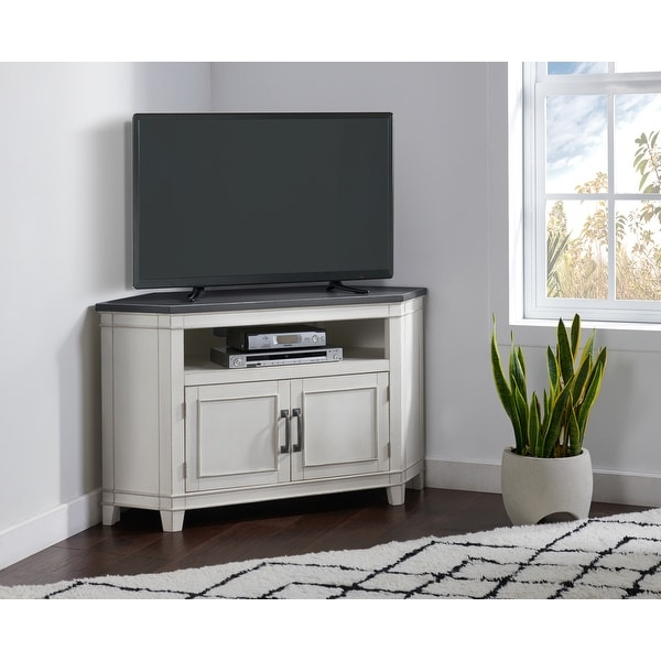 "Martin Svensson Home Del Mar 50"" Corner Tv Stand Within Del Mar 50"" Corner Tv Stands White And Gray (View 5 of 20)"