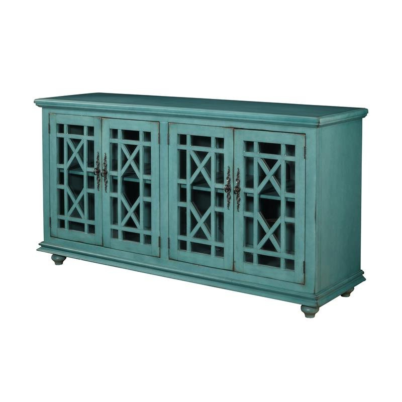 """Martin Svensson Home Jules 63"""" Tv Stand Teal Green Finish With Jule Tv Stands (View 7 of 20)"""