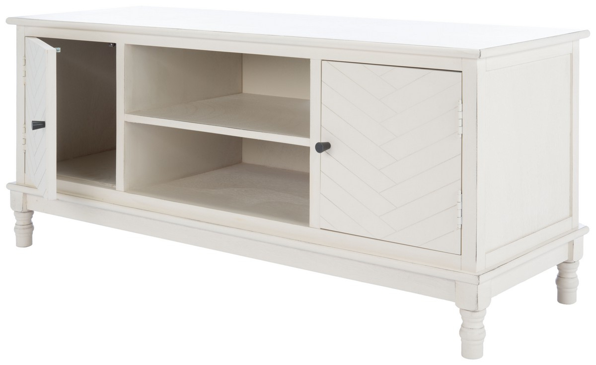 Med5702a Tv Stands – Furnituresafavieh Within Media Console Cabinet Tv Stands With Hidden Storage Herringbone Pattern Wood Metal (View 9 of 20)
