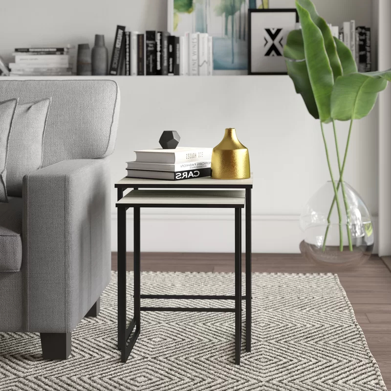 Mercury Row Caddell 2 Piece Nesting Tables & Reviews With Regard To Emmett Sonoma Tv Stands With Coffee Table With Metal Frame (View 12 of 20)