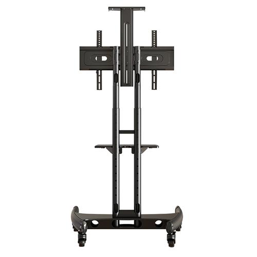 Metal Modern Floor Mount Tv Stand, Warranty: 5 Years, Max Regarding Mount Factory Rolling Tv Stands (View 13 of 20)