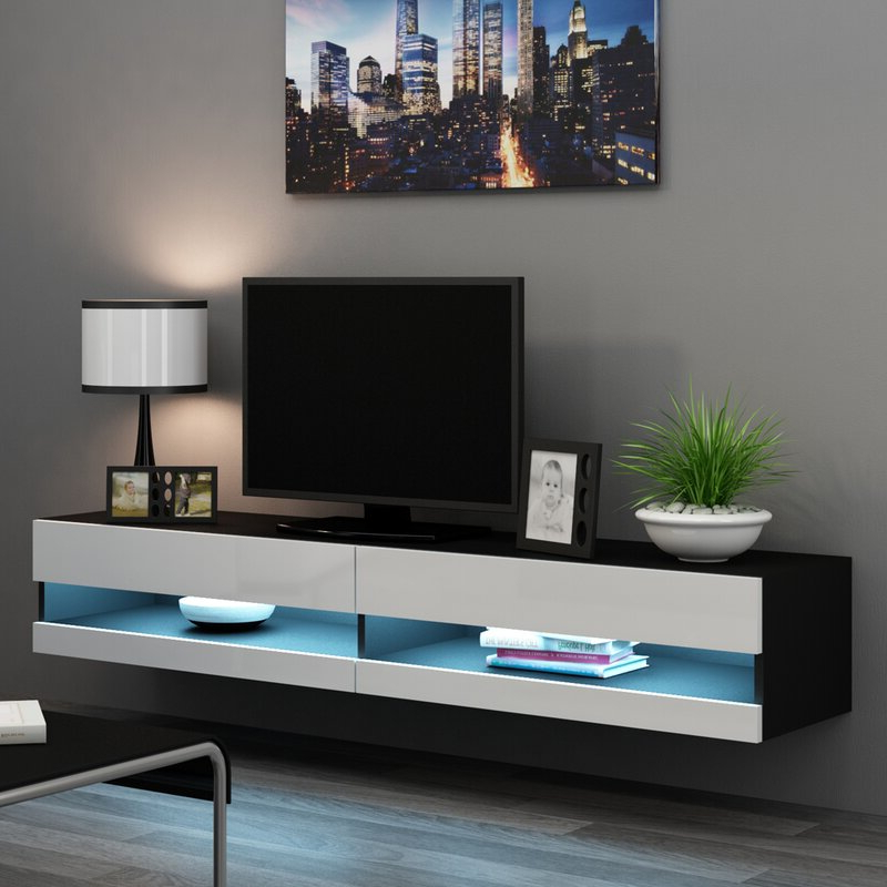 """Metro Lane Steck Tv Stand For Tvs Up To 78""""   Wayfair.co (View 11 of 20)"""