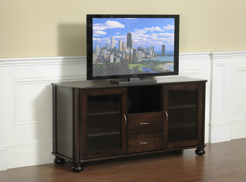 Metro Tv Stand 579 In Solid Hardwood – Ohio Hardwood Furniture Within Santiago Tv Stands (View 1 of 20)