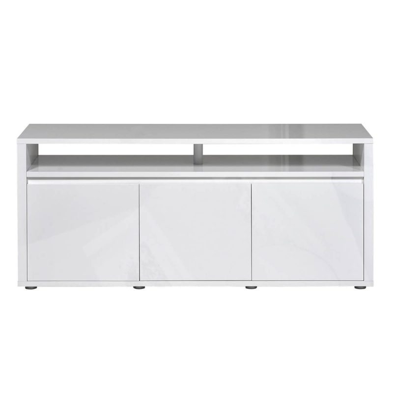 Milano White Gloss Tv Unit – Subtle Blue Led Under In Corona Grey Corner Tv Stands (View 16 of 20)