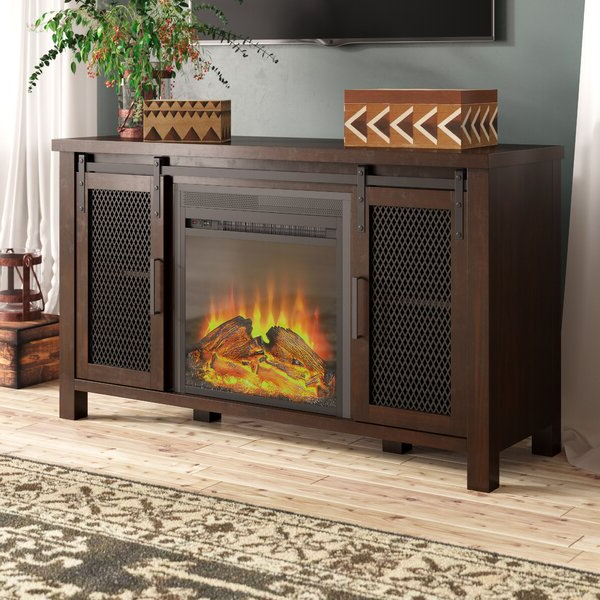 """Millwood Pines Mahan Tv Stand For Tvs Up To 55"""" With Intended For Neilsen Tv Stands For Tvs Up To 50"""" With Fireplace Included (View 18 of 20)"""