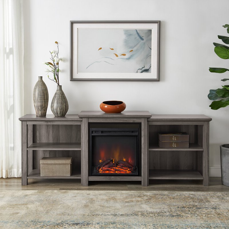 """Millwood Pines Woodbury Tv Stand For Tvs Up To 70"""" With Within Hetton Tv Stands For Tvs Up To 70"""" With Fireplace Included (View 2 of 20)"""