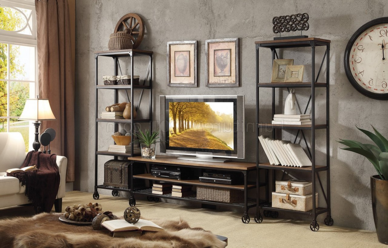 Millwood Tv Stand 50990 Thomelegance W/options Pertaining To Sherbourne Oak Corner Tv Stands (View 18 of 20)