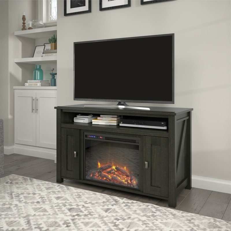 """Mistana Whittier Tv Stand For Tvs Up To 50 Inches With Within Neilsen Tv Stands For Tvs Up To 50"""" With Fireplace Included (View 3 of 20)"""