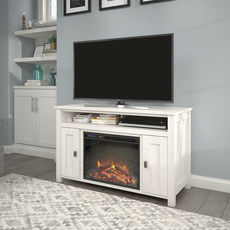 """Mistana™ Whittier Tv Stand For Tvs Up To 50"""" With Electric Throughout Chicago Tv Stands For Tvs Up To 70"""" With Fireplace Included (View 11 of 20)"""