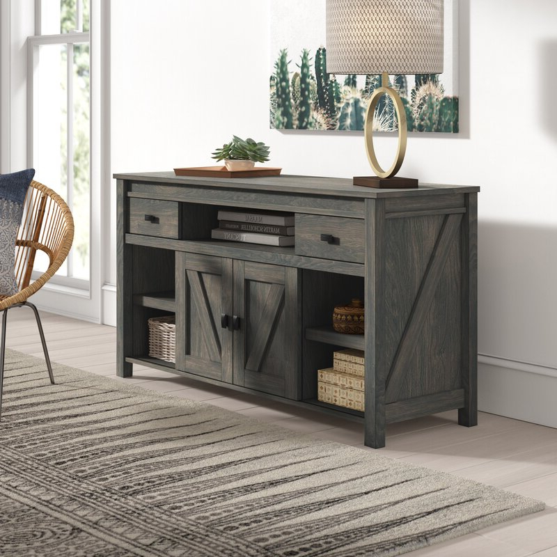 """Mistana™ Whittier Tv Stand For Tvs Up To 60"""" & Reviews Throughout Canyon Oak Tv Stands (View 14 of 20)"""