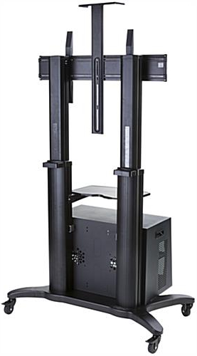 Mobile Tv Rack With Lock   Rolling Media Cart For Trade Shows Intended For Rolling Tv Cart Mobile Tv Stands With Lockable Wheels (View 14 of 20)