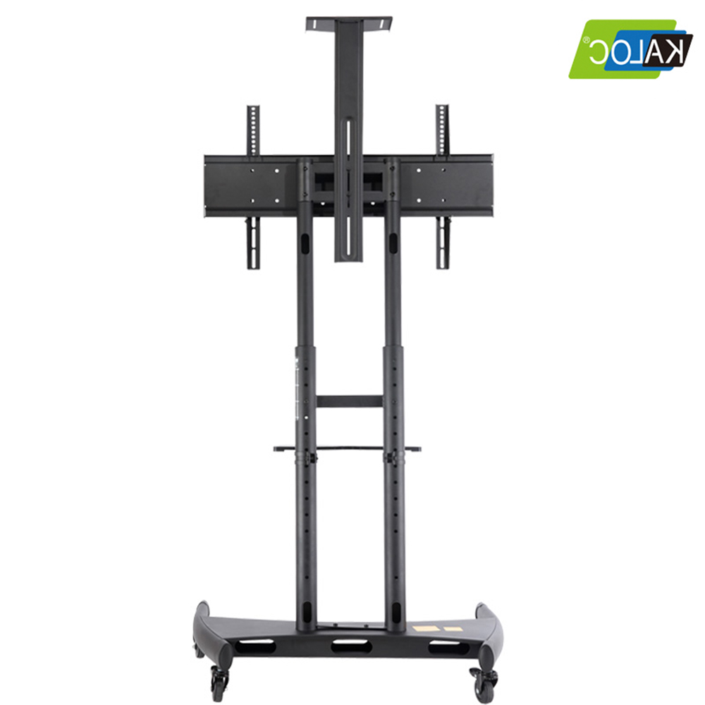 Mobile Tv Stand With Wheels Rolling Tv Cart For 55 To 80 With Mobile Tv Stands With Lockable Wheels For Corner (View 7 of 20)