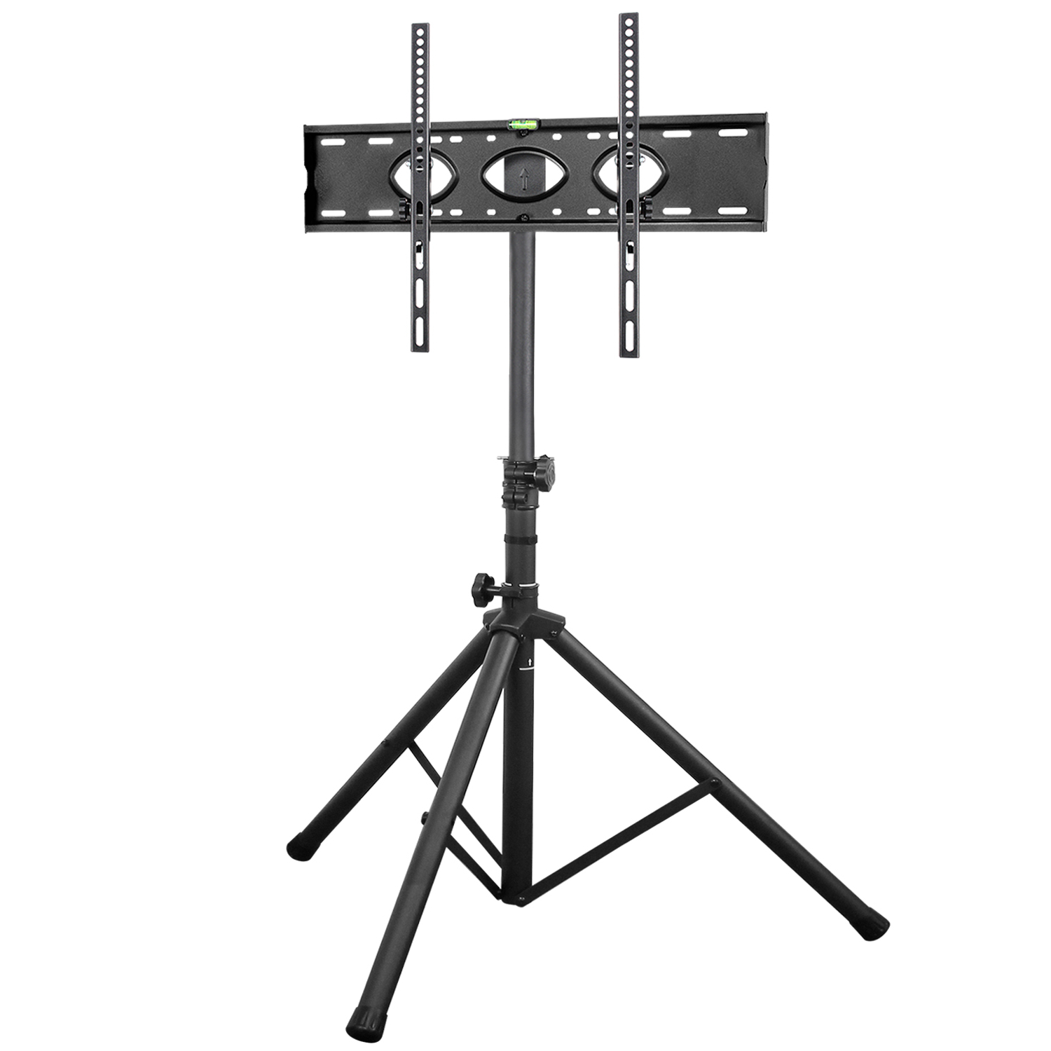 """Modern 32"""" To 70"""" Portable Black Tv Floor Tripod Stand Within Rfiver Modern Black Floor Tv Stands (View 12 of 20)"""
