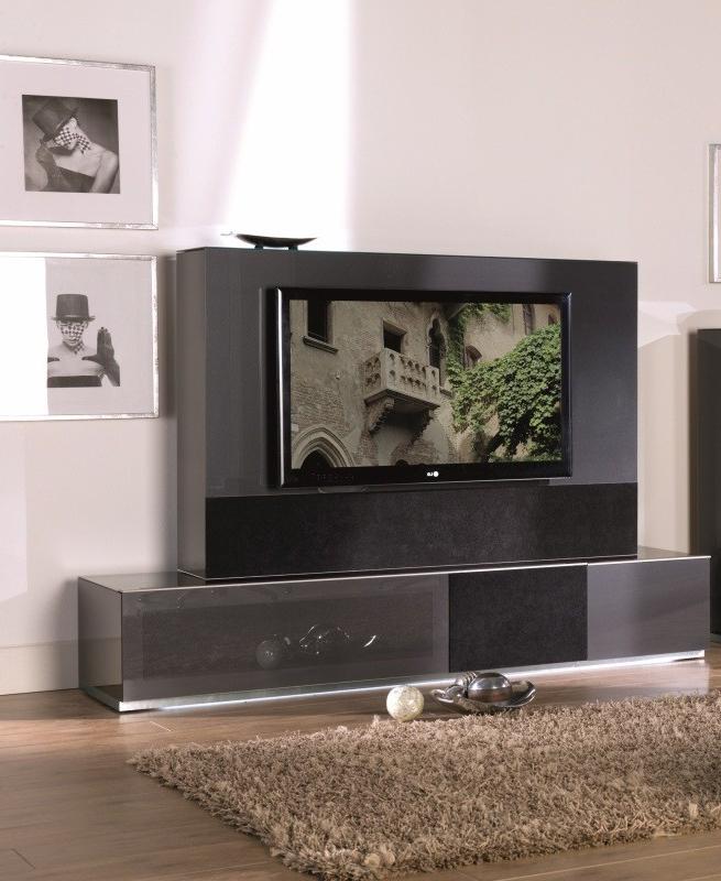 Modern Entertainment Center For Better Organization – La Regarding 57'' Tv Stands With Led Lights Modern Entertainment Center (View 8 of 20)