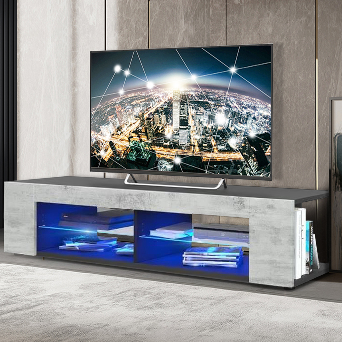 """Modern Led Tv Stand Tv Cabinet For Tvs Up To 65"""", With Inside Calea Tv Stands For Tvs Up To 65"""" (View 13 of 20)"""