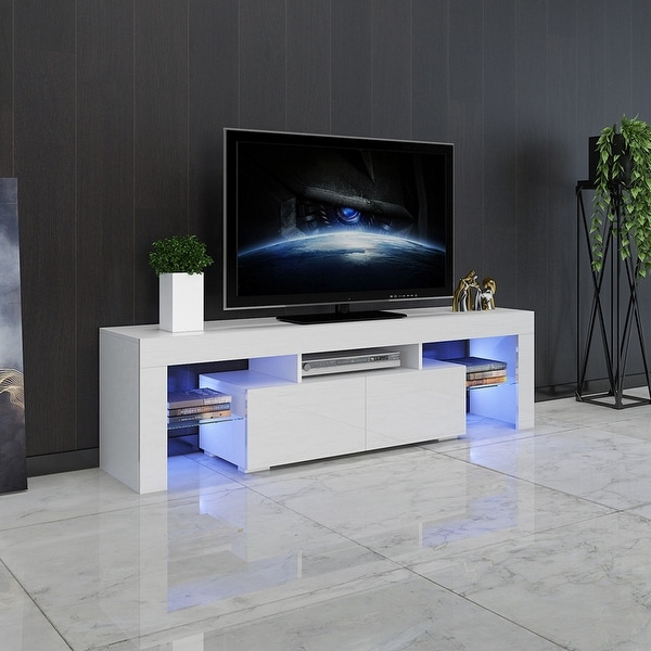 """Modern Minimalist Tv Cabinet Living Room With High Gloss For Bari 160 Wall Mounted Floating 63"""" Tv Stands (View 1 of 27)"""