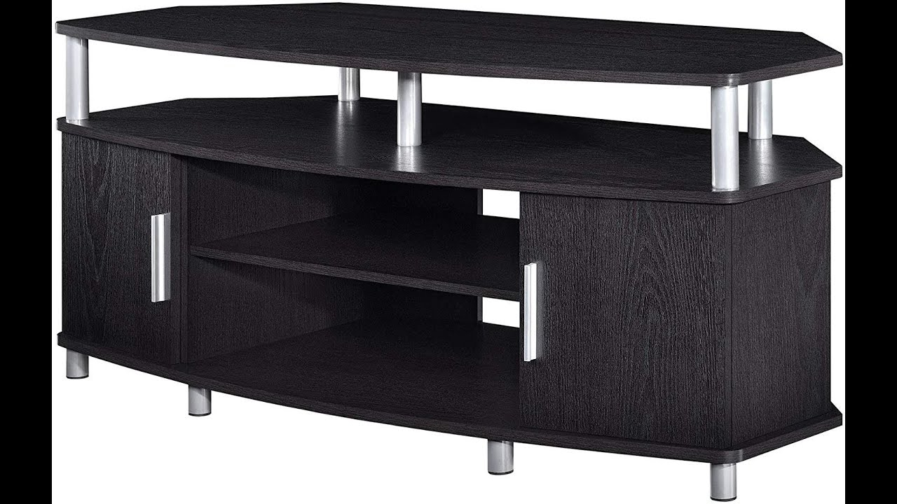 Modern Tv Stand Black   Ameriwood Home Carson Corner Tv Regarding Carson Tv Stands In Black And Cherry (View 10 of 20)