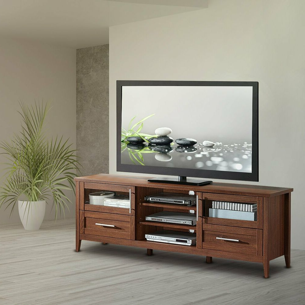 Modern Tv Stand With Storage, Drawers & Shelves For Tv's With Regard To Horizontal Or Vertical Storage Shelf Tv Stands (View 4 of 20)