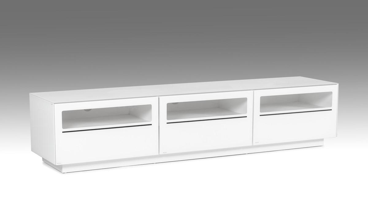 Modrest Landon Contemporary White Tv Stand – Tv & Media Regarding High Glass Modern Entertainment Tv Stands For Living Room Bedroom (View 11 of 20)