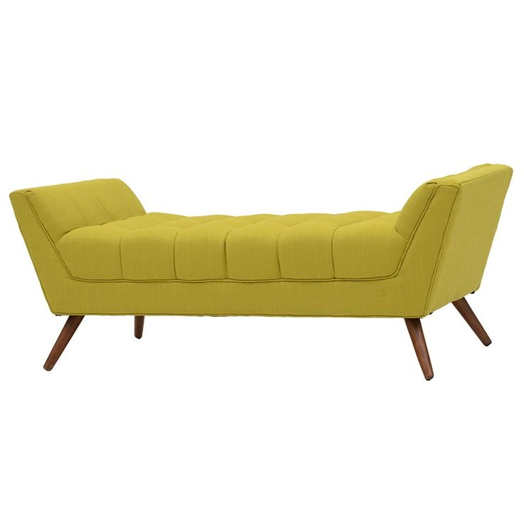 Modway Chartreuse Upholstered Bench   Upholstered Bench Intended For Zena Corner Tv Stands (View 13 of 20)