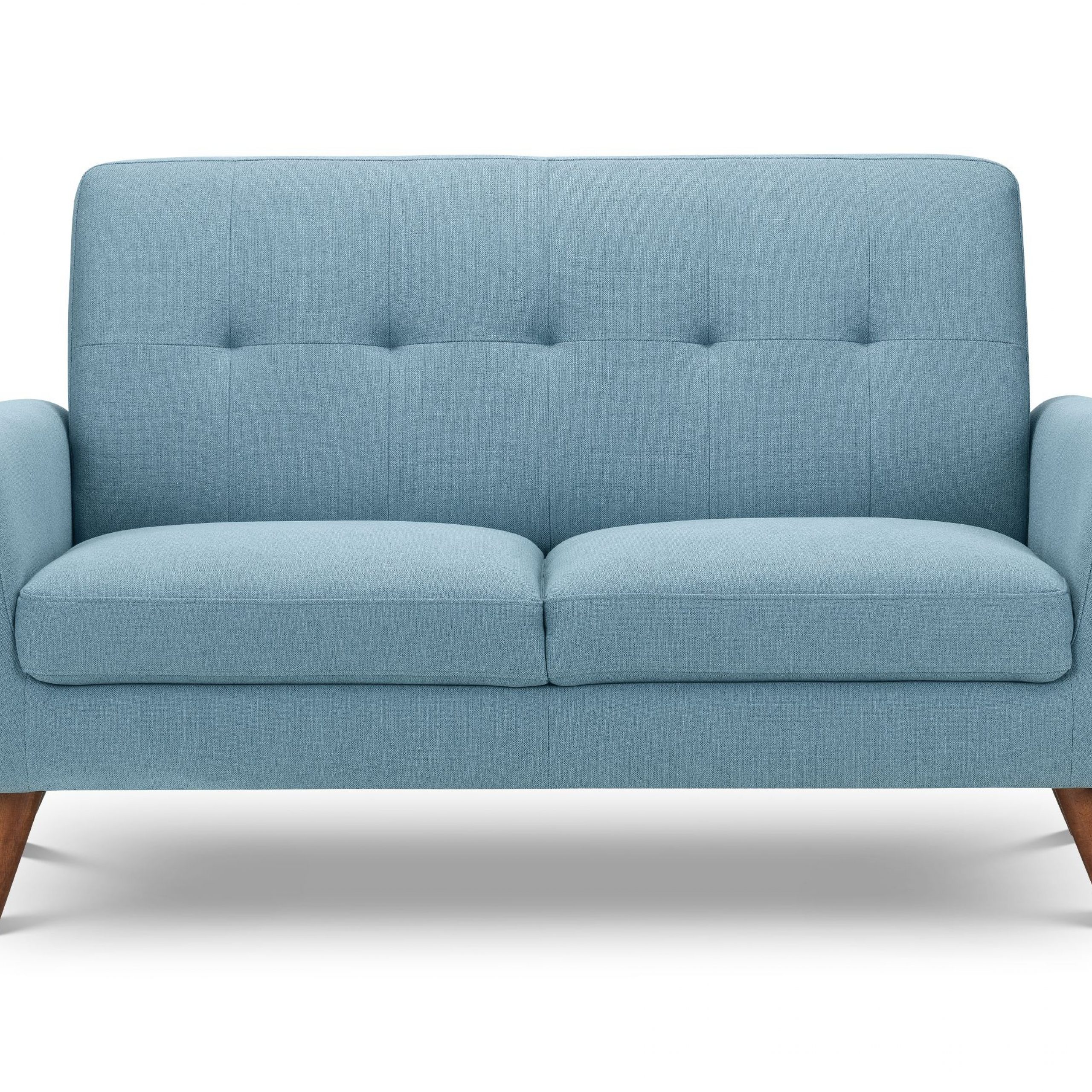 Monza 2 Seater Compact Retro Sofa – Blue – Flanagans Throughout Monza Tv Stands (View 16 of 20)