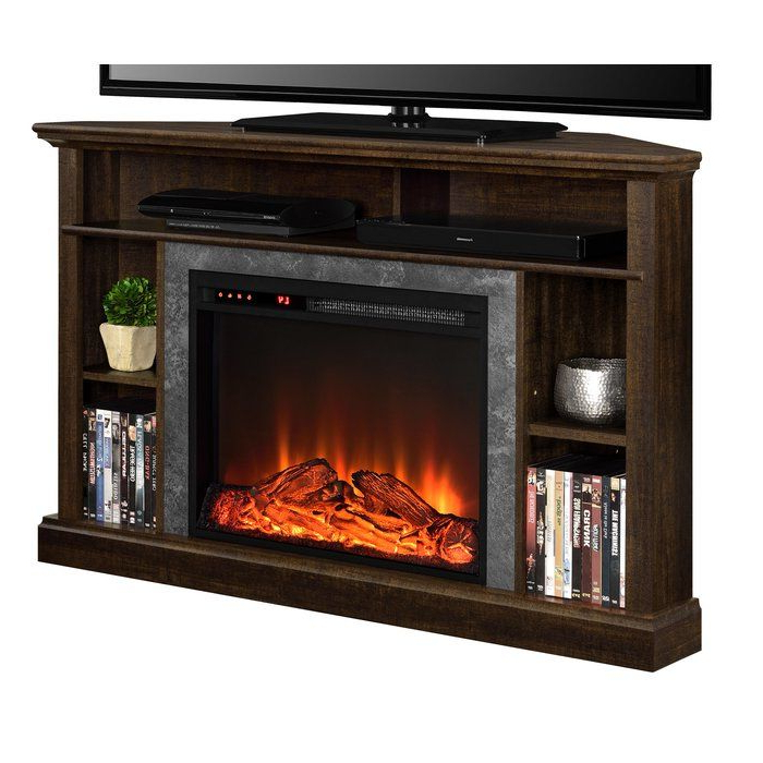 """Moreton Corner Tv Stand For Tvs Up To 50"""" With Fireplace For Camden Corner Tv Stands For Tvs Up To 50"""" (View 16 of 20)"""