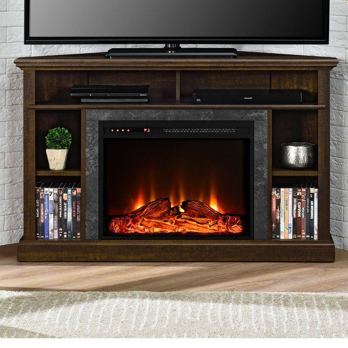 """Moreton Corner Tv Stand For Tvs Up To 50"""" With Fireplace Throughout Neilsen Tv Stands For Tvs Up To 50"""" With Fireplace Included (View 1 of 20)"""