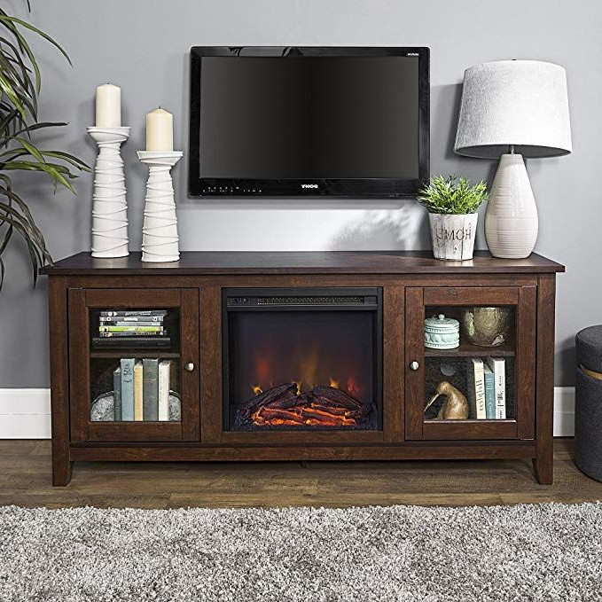 New 58 Inch Wide Television Stand With Fireplace In Regarding Greenwich Wide Tv Stands (View 11 of 20)