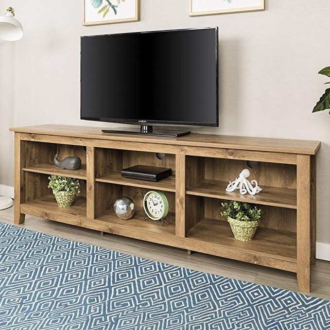 """New 70 Inch Wide Barnwood Finish Television Stand Review With Regard To Mainor Tv Stands For Tvs Up To 70"""" (View 11 of 20)"""