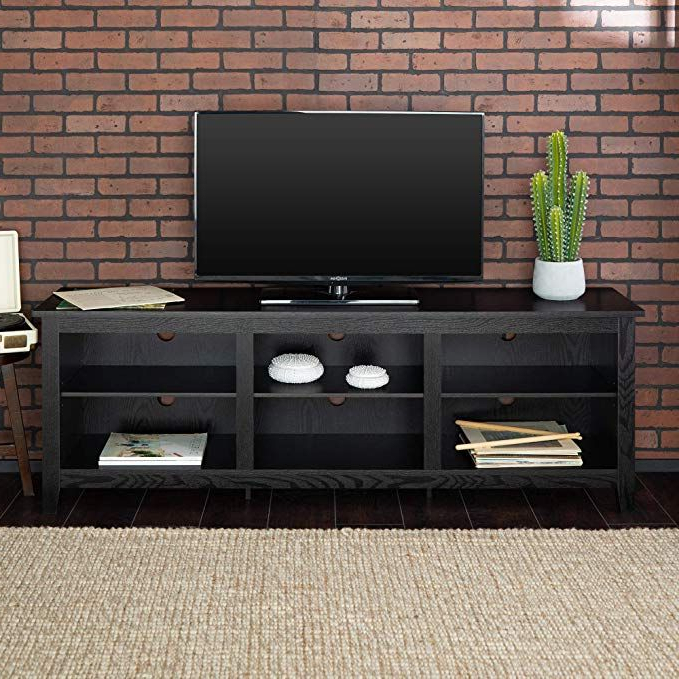 New 70 Inch Wide Black Television Stand Review | Black Tv Intended For Anya Wide Tv Stands (View 5 of 20)