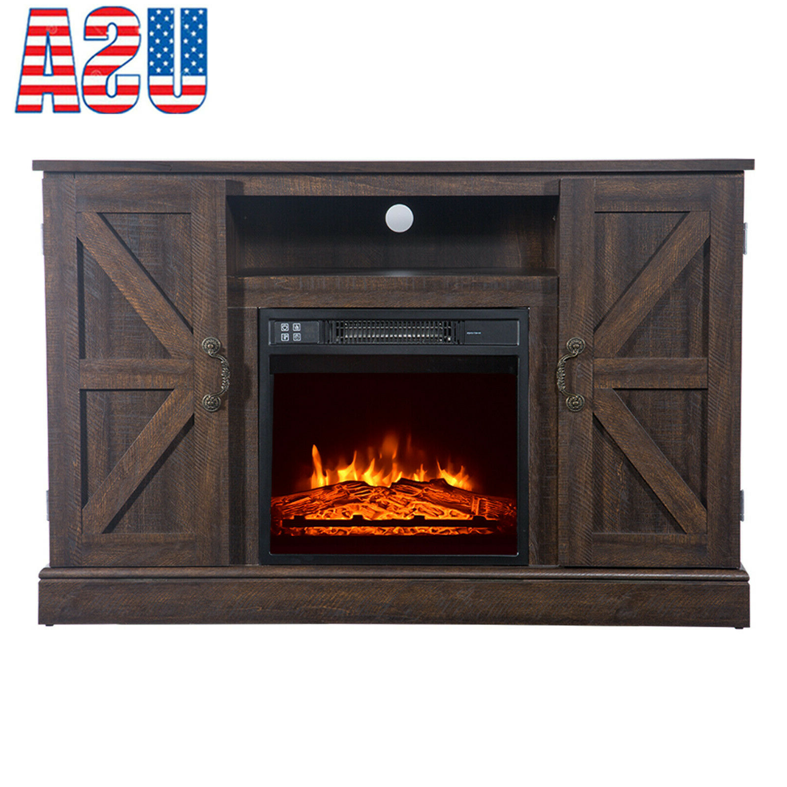 New Arrival Rustic Wood Fireplace Tv Stand For 50 With Rustic Grey Tv Stand Media Console Stands For Living Room Bedroom (View 15 of 20)