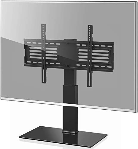 New Fitueyes Universal Tv Stand With Swivel Mount For 32 For Fitueyes Rolling Tv Cart For Living Room (View 5 of 20)