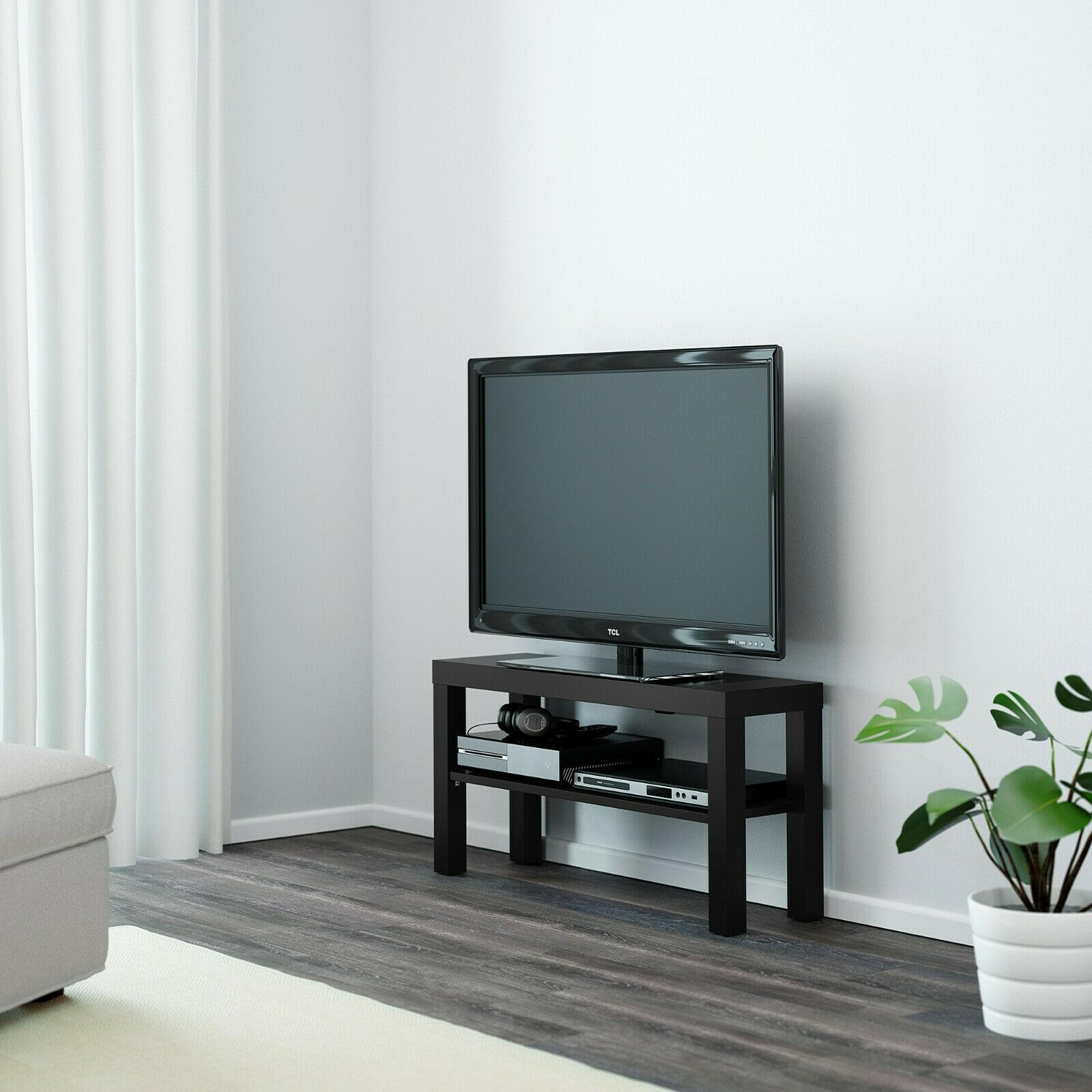 New Ikea Lack Tv Stand Unit Black Inside Dillon Black Tv Unit Stands (View 6 of 20)