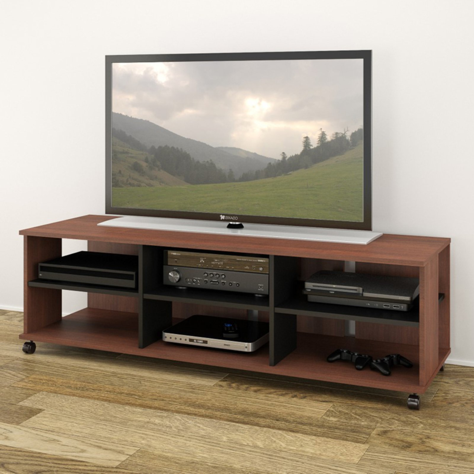 """Nexera Jasper Moka/black 60"""" Tv Stand For Tvs Up To 66 With Adayah Tv Stands For Tvs Up To 60"""" (View 13 of 20)"""