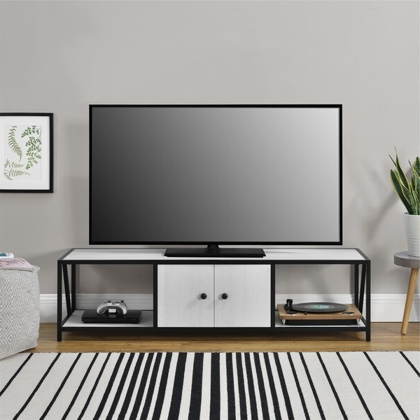 """Novogratz Weston Ivory Pine Tv Stand For Tvs Up To 60 Inch Regarding Kasen Tv Stands For Tvs Up To 60"""" (View 8 of 20)"""