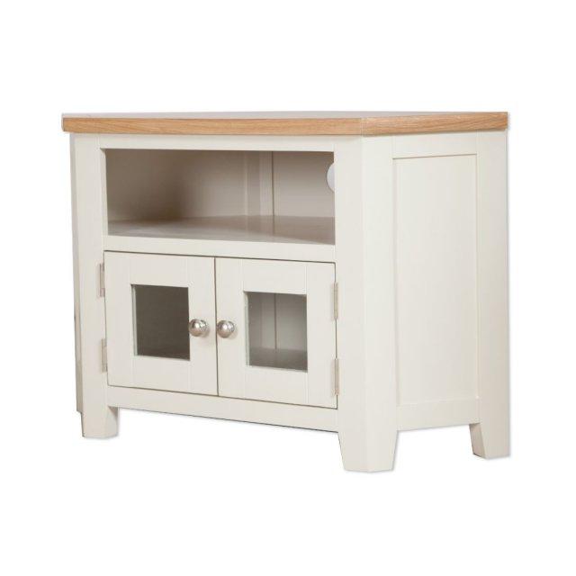 Oak City – Sydney Painted Ivory 105cm Glazed Corner Tv Pertaining To Compton Ivory Corner Tv Stands (View 3 of 20)