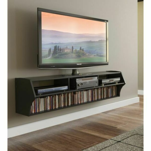"""Oak Large Floating Entertainment Center 200 Led Tv Stand With Regard To Milano 200 Wall Mounted Floating Led 79"""" Tv Stands (View 1 of 20)"""