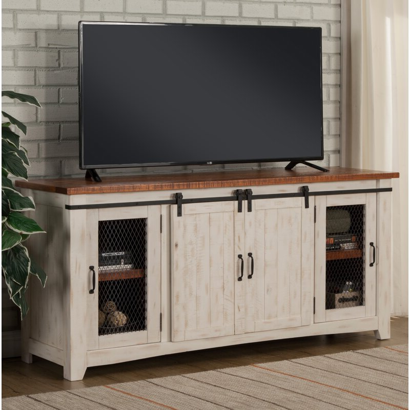"""Octavia Solid Wood Tv Stand For Tvs Up To 70 Inches For Kinsella Tv Stands For Tvs Up To 70"""" (View 2 of 20)"""
