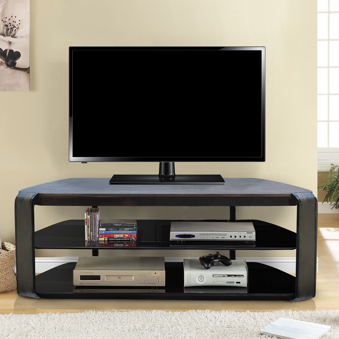Olly Tv Stand Foldable – Vintage Oak | Living Essentials Corp (View 15 of 20)