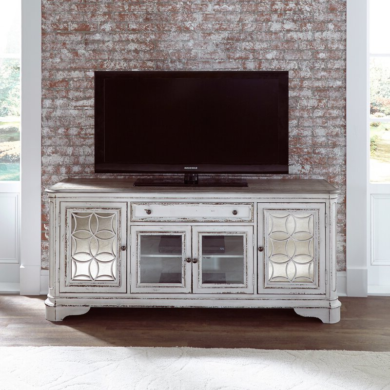 """One Allium Way Tavant Tv Stand For Tvs Up To 75"""" & Reviews Inside Griffing Solid Wood Tv Stands For Tvs Up To 85"""" (View 2 of 20)"""