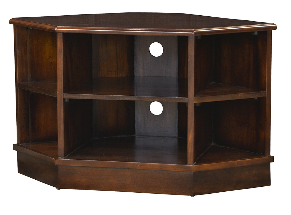 Open Corner Tv Unit – Chestnut – Island Furniture Co With Compton Ivory Corner Tv Stands With Baskets (View 18 of 20)