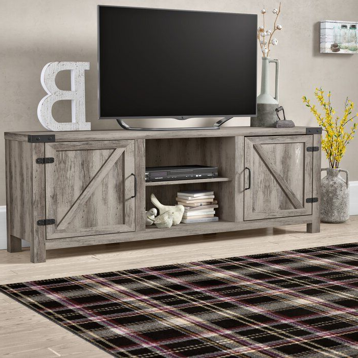 Orchard Hill Tv Stand For Tvs Up To 70 Inches   Furniture With Tv Stands In Rustic Gray Wash Entertainment Center For Living Room (View 6 of 20)