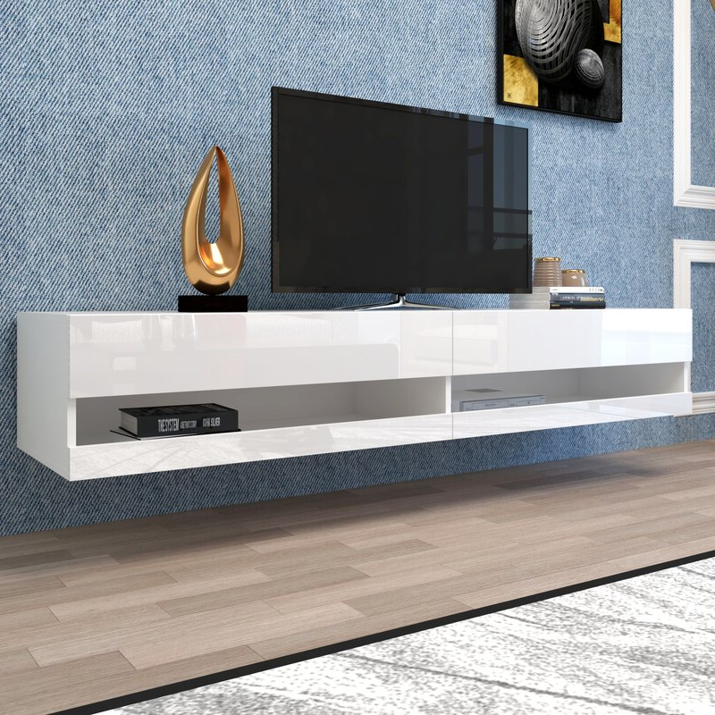 """Orren Ellis Andrick Floating Tv Stand For Tvs Up To 85 With Regard To Bustillos Tv Stands For Tvs Up To 85"""" (View 18 of 20)"""