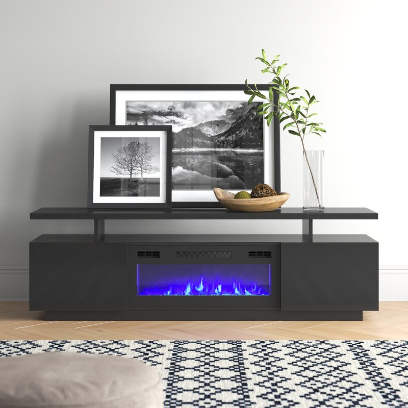 """Orren Ellis Burkard Tv Stand For Tvs Up To 78"""" With Throughout Grandstaff Tv Stands For Tvs Up To 78"""" (View 5 of 20)"""