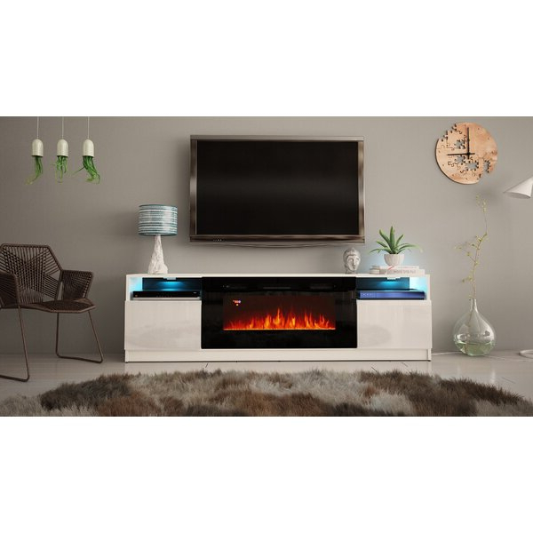 """Orren Ellis Delaine Tv Stand For Tvs Up To 88"""" With In Chicago Tv Stands For Tvs Up To 70"""" With Fireplace Included (View 10 of 20)"""